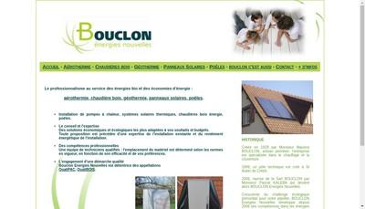 Site internet de Bouclon Energies Nouvelles