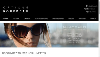 Site internet de Bourdeau Optique