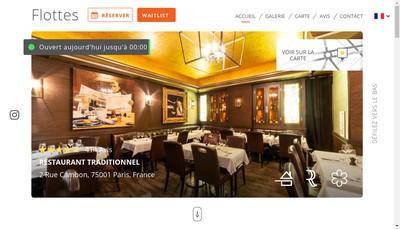 Site internet de Chez Flottes