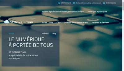 Site internet de Bt Consulting