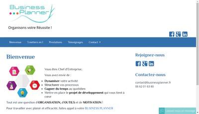 Site internet de Business Planner