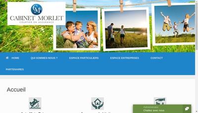 Site internet de Cabinet Morlet