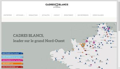 Site internet de Cadres Blancs G et B