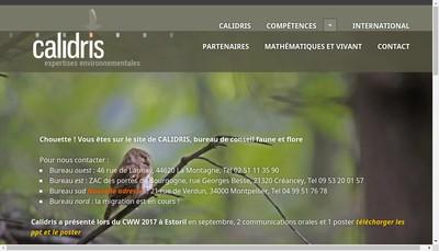 Site internet de Calidris