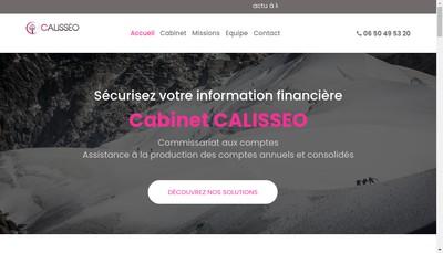 Site internet de Calisseo