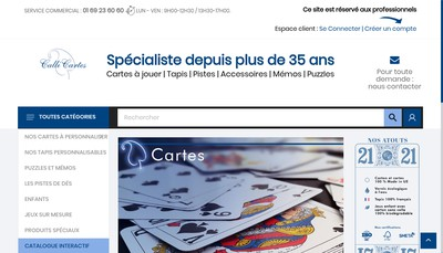 Site internet de Calli Cartes