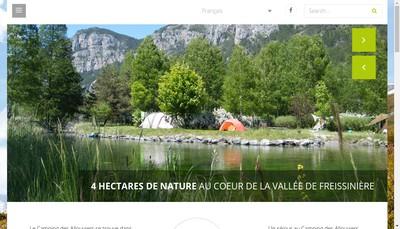 Site internet de Camping les Allouviers