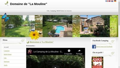 Site internet de Domaine la Mouline