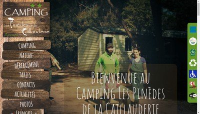 Site internet de Camping des Pinedes de la Caillauderie