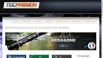 Site internet de Toc Passion