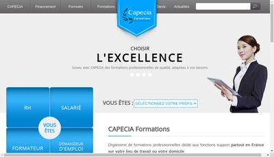 Site internet de Capecia Formations