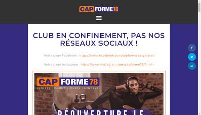 Site internet de Cap Forme 78