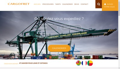 Site internet de Cargo Fret
