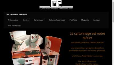Site internet de Cartonnage Prestige Martin Creation