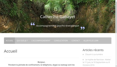 Site internet de Catherine Gabayet
