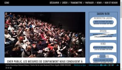 Site internet de Centre Dramatique National d'Orleans