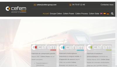 Site internet de Cefem Solar et Innovation