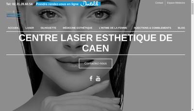 Site internet de Centre Laser Esthetique