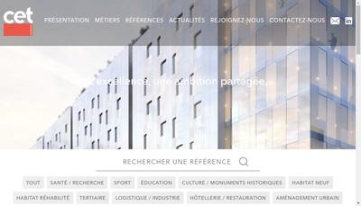 Site internet de Cet Ingenierie Lyon