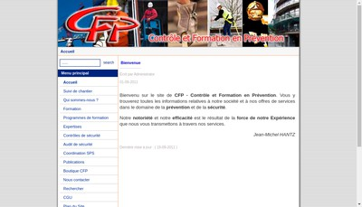 Site internet de Cfp Securite
