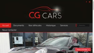 Site internet de Cg Cars