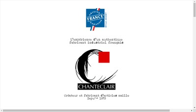 Site internet de Bonneterie Chanteclair