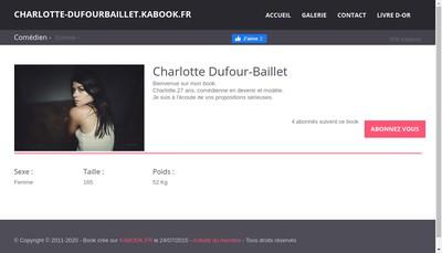 Site internet de Charlotte Dufour Baillet