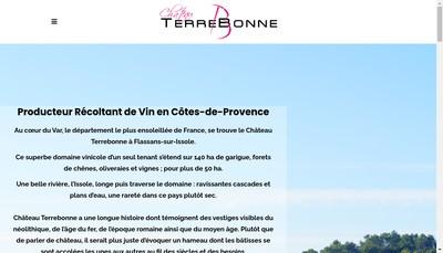 Site internet de Domaine du Chateau de Terrebonne