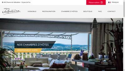 Site internet de Chateau de Valloubiere