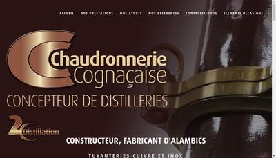 Site internet de Chaudronnerie Cognacaise