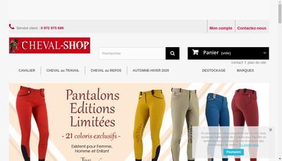 Site internet de Cheval-Shop