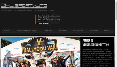 Site internet de Chl Sport Auto