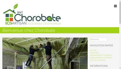 Site internet de SARL Chorobate