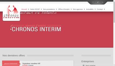 Site internet de Chronos-Interim Recrut-Conseil