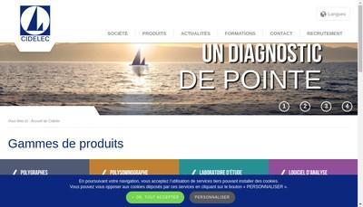 Site internet de Controle Instrumentation et Diagnostic Electroniques - Cidelec