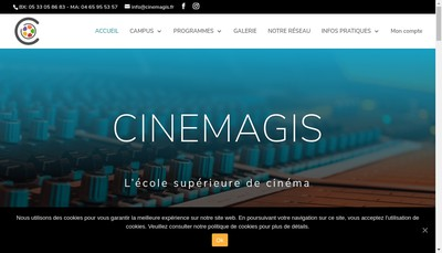 Site internet de Cinemagis