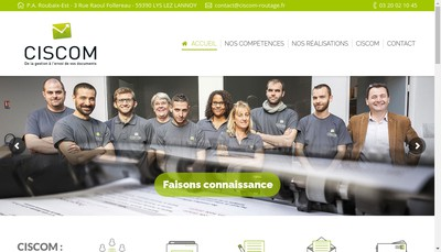 Site internet de Ciscom
