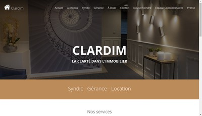 Site internet de Clardim