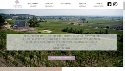 Site internet de Clement Selection