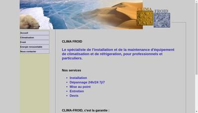 Site internet de Clima Froid Aquitaine