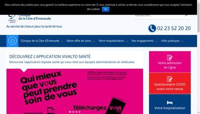 Site internet de Clinique de la Cote d'Emeraude