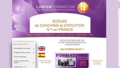 Site internet de Lunion Formation