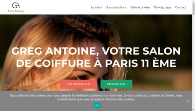 Site internet de Greg Antoine Creation