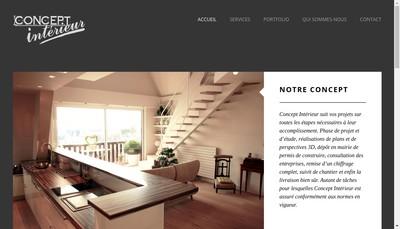 Site internet de Concept Interieur