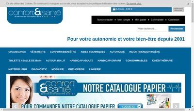 Site internet de Confort et Sante