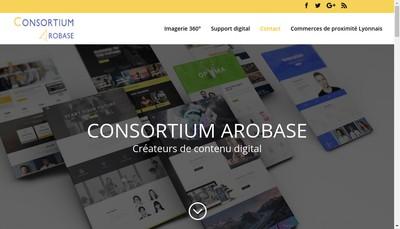 Site internet de Consortium Arobase