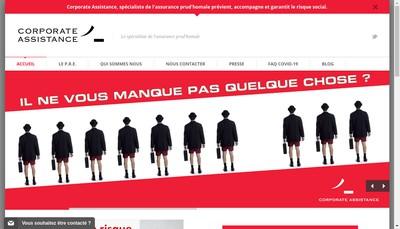 Site internet de Corporate Assistance