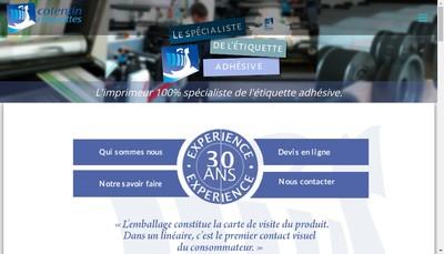 Site internet de Cotentin Etiquettes