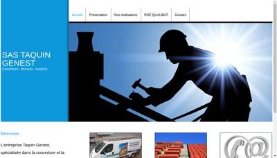 Site internet de SAS Taquin Genest