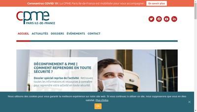 Site internet de Federation Region Pme Pmi Paris Ile Fran